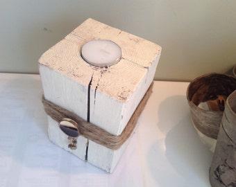 Shabby chic candle holder handmade