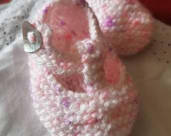 Pretty in Pink speckled T Bar Shoes