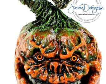 Victor Paper Mache Halloween Jack o lantern sculpture
