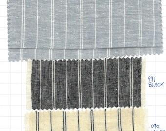 Stripey hemp organic cotton fabric,  organic fabric shop, SOLD BY 1/2 YARD ec4242