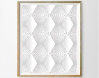 Geometric download Geometric art decor Minimalist art decor Geometric printable Downloadable art Geometric art printable