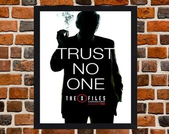 Framed The X Files Trust No One TV Series Poster A3 Size Mounted In Black Or White Frame
