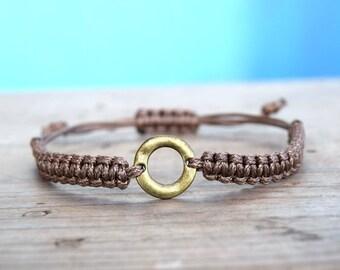 Mens macrame bracelet, mens karma bracelet, infinity bracelet men