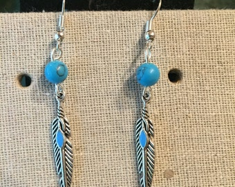 "Item #130: ""Turquoise Feathers"""