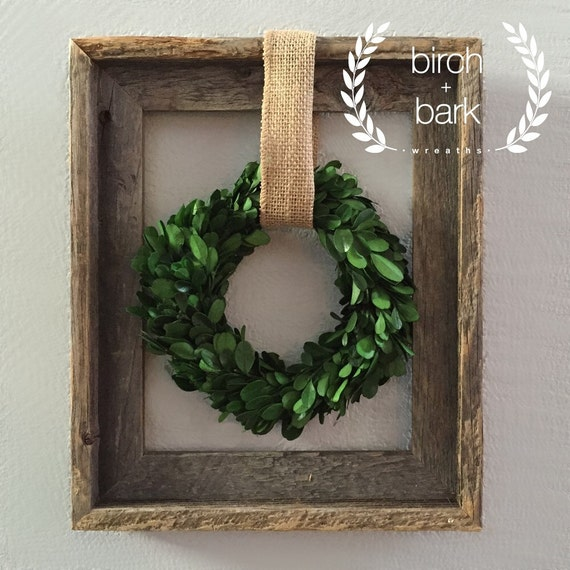 Home decor preserved boxwood wreath wood frame wreath Home decoration photo frames
