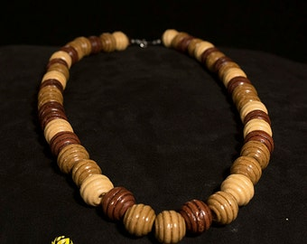 Casual Wooden Necklace