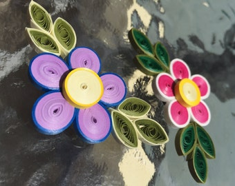 Quilled Fridge Magnets - Set of 2