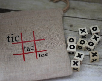 Tic Tac Toe Game-Travel Games for Kids-Car Travel Games for Kids-Children Travel Games-Road Trip Games- Dr Office Games-Burlap Games for kid