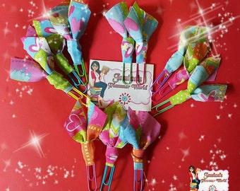 Ballerina fabric paperclip