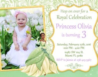 Princess Tiana Invitation Birthday Princess Tiana Party