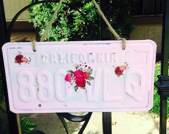 Shabby Chic California license plate