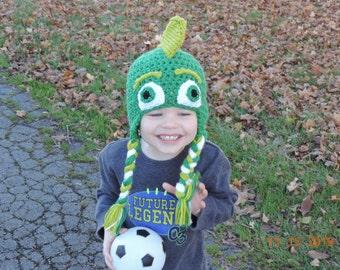 ON SALE** PJ Masks Gecko Crochet Inspired Hat