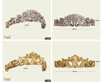 Crown for bed/decorative curtain rod