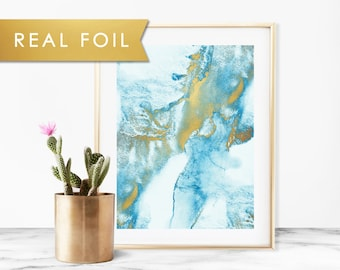 Blue Mist Real Foil Art Print 11x14, 8x10, 5x7