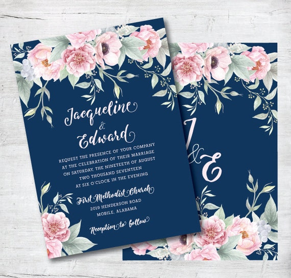 Wedding Invitations Monogram is luxury invitation sample
