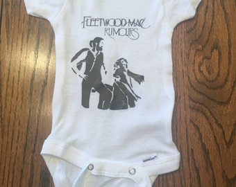 Fleetwood Mac ( or band of your choice ) album cover baby onesie/bodysuit