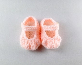 Crochet baby shoes, baby girl, Mary Janes, shoes with strap, Baby Shower gift, Baby photo prop, Dolly shoes, any colour, newborn to 6 months