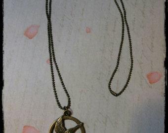 "Bronze balls chain necklace ""Hunger Games"""