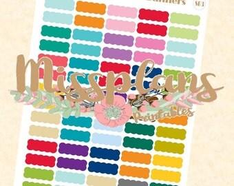 Scalloped Banners - EC Colour Palette - Erin Condren Life Planner
