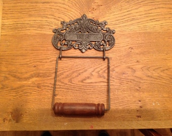 Antique style toilet roll holder