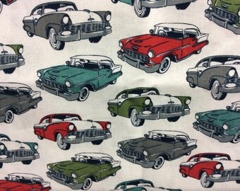 1950's Car Fabric/ Car Fabric/ Cotton/ Sold by the yard