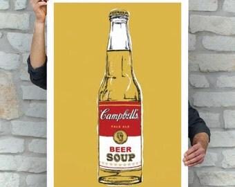 Beer Soup Poster | Street Art | Pop Art | Campbell's Soup Poster | Cerveza