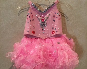 Girl's Pink Cupcake Glitz Pageant Dress - Size 5/6