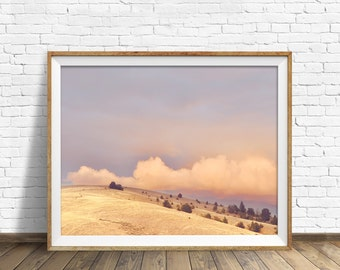 """landscape photography, clouds, instant download, printable art, large art, large wall art, printable wall art, print - """"The End of the Day"""""""
