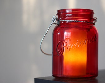 Flameless Candle in Jar