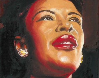 BILLIE HOLIDAY Oil Painting Original
