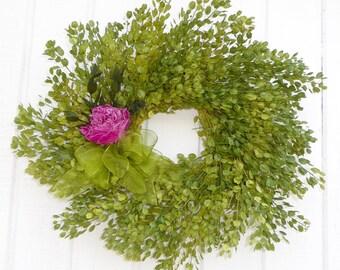 Dried Flower Wreath, Dried Floral Wreath, Pennycress Wreath, Wreath, Green Flower Wreath, Wreath