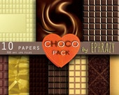Digital paper with the texture of chocolate