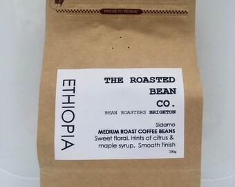 ETHIOPIA SIDAMO - Beautiful medium roasted fresh coffee - Beans or Ground to order