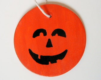 Jack O'Lantern Halloween Wood Wall Hanging Ornament