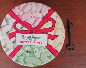 Russell Stover Tin Vintage Butter Mints Tin