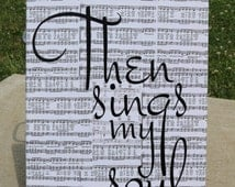 How Great Thou Art sheet music art