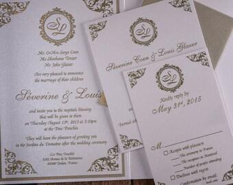Damask Wedding Invitation, Damask Invitation, Damask Wedding Invitations, Damask invitations, Gold Damask Invitation,Gold Damask Invitations