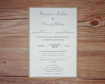 Kraft Wedding Invitation, Vintage Wedding Invitation, Vintage invitations, Rustic Invitation, casual invitation, Rustic Wedding Invitations,