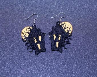 Haunted House Earrings