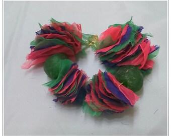 Bracelet silk Juliet Juliet stones