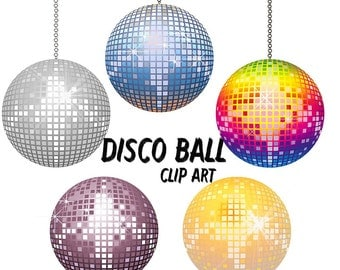Disco ball Clip Art Disco balls Clipart Make Your Own Disco ball Digital Scrapbooking Elements Personal and Commercial Use