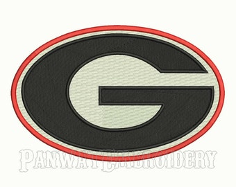 9 Size Georgia Bulldogs Logo Embroidery Designs, Machine Embroidery Designs, College Football Embroidery Designs - INSTANT DOWNLOAD