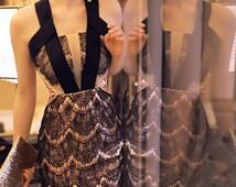 Gold Lace Dress, Lace Slim Fit Dress, Cocktail Lace Dress, New Year Dress, Dinner Dress, Plus Size Dress, Formal Dress, Mermaid Lace Dress