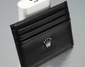 Rolex Credit Card Wallet Leather