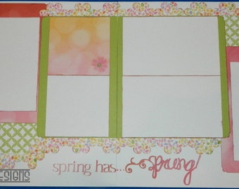 Springtime Double page scrapbooking layout