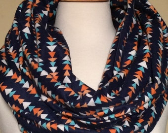 Triangle Printed Infinity Scarf