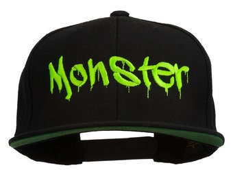 Halloween Monster Embroidered Snapback Cap