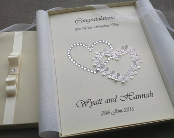 Wedding Day Congratulations Card Handmade Personalised Keepsake from Parents Grandparents Friends Boxed or Envelope Couple