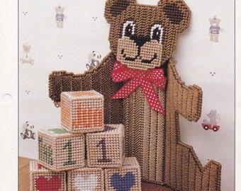 Teddy Bear Calendar, Annie's International Plastic Canvas Pattern Club Plastic Canvas Pattern Leaflet PLCX301-07