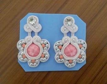 flower earrings soutache